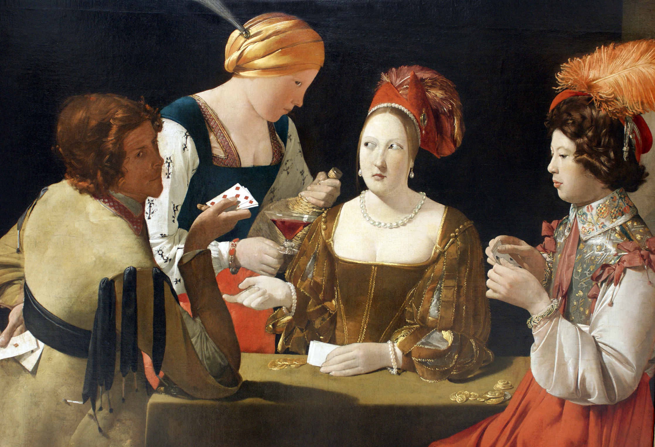 Le tricheur à l'as de carreau, Georges de La Tour, 1636-1638. Musée du Louvre (Paris).